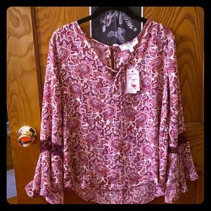 Boho bell sleeve blouse by Hippie Rose